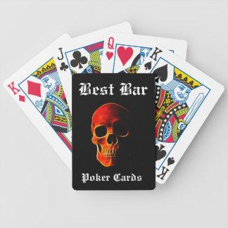 Custom Skull of Flames Casino Quality Cards