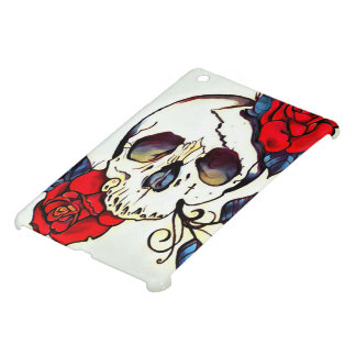 custom skull rose hard ipad mini case