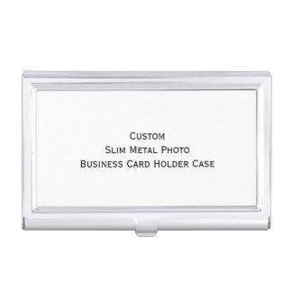 Custom Slim Metal Photo Business Card Holder Case
