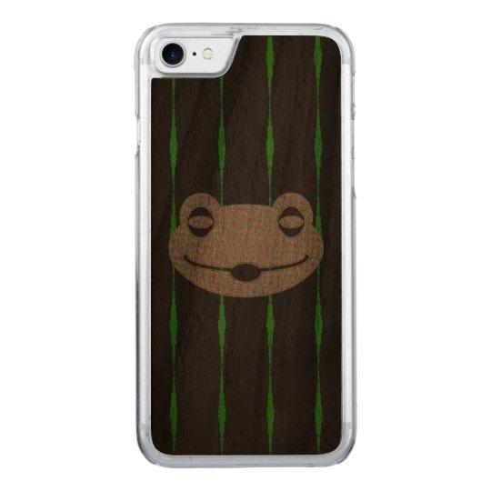 Custom Slim Walnut iPhone Galaxy Nexus Case - Frog