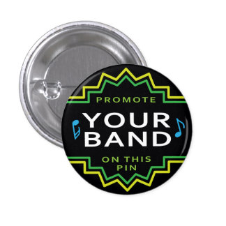 Custom Small Flair Button Pin Band Self Promotion