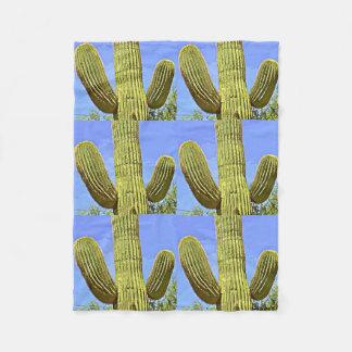 Custom Small Fleece Blanket - Saguaro In Cartoon