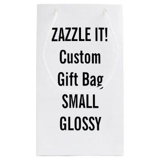 Custom SMALL GLOSSY Gift Bag Blank Template Small Gift Bag