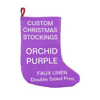 Custom SMALL ORCHID PURPLE Christmas Stocking