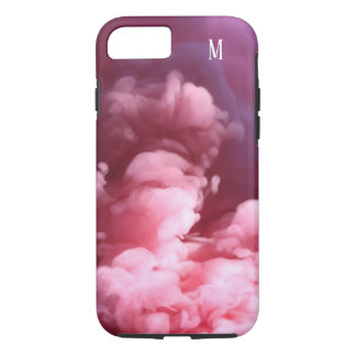 Custom Smoke effect pink art design Case-Mate iPhone Case