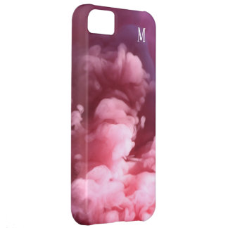 Custom Smoke effect pink art design Cover For iPhone 5C