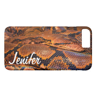 Custom snake close up iPhone 7 plus case