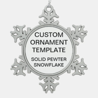 Custom Snowflake Christmas Ornament Blank Template