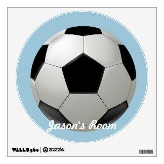 Custom Soccer ball Wall Sticker
