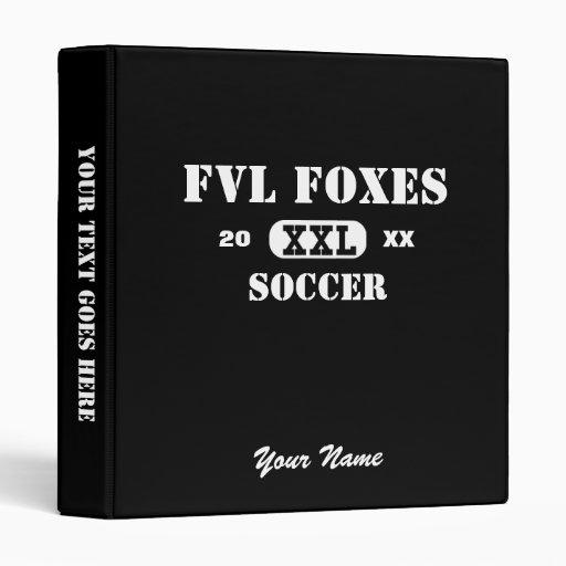 "Custom Soccer FVL Foxes Binder 1"" 3 Ring Binders"