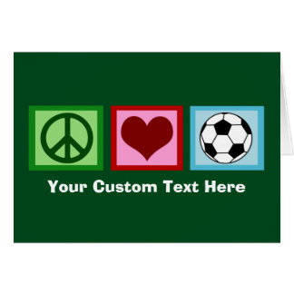 Custom Soccer Green Christmas Card