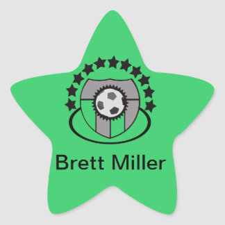 Custom Soccer League Gift or Award - Star Sticker