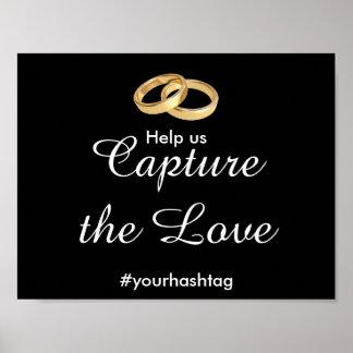Custom Social Media Wedding Hashtag Sign