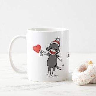 Custom sock monkey mug Personalized monkey mug