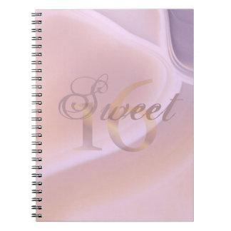 Custom Soft Purple Gemstone Sweet 16 Birthday Spiral Notebooks
