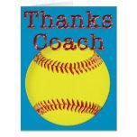 Custom Softball COACH Gifts Thanks Coach BIG Card