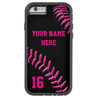 Custom Softball iPhone 6 Cases with YOUR TEXT