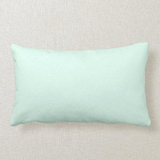 Custom Solid Light Mint Green Colour Lumbar Pillow