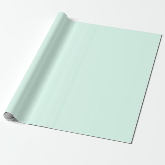 Custom Solid Light Mint Green Colour Wrapping Paper