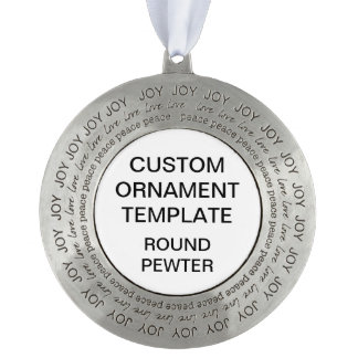 Custom Solid Pewter Christmas Ornament Template