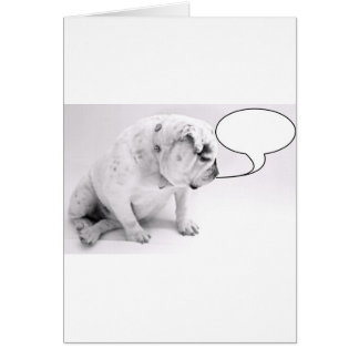 custom speech bubble bulldog card