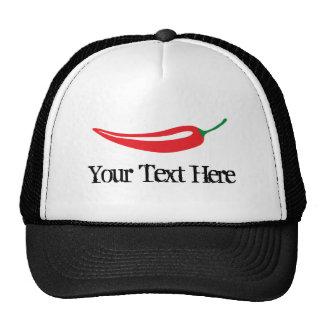 Custom spicy hot red chili pepper trucker hat