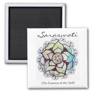 Custom Spiritual Name Magnet: Lotus Essence Design Square Magnet
