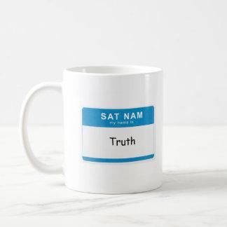 Custom Spiritual Name Mug: Sat Nam. My name is __. Coffee Mug
