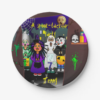 Custom Spook-tackular Party Paper Plate