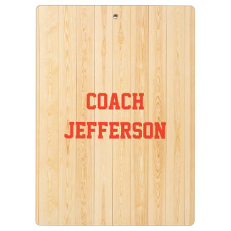 Custom sport coach gym floor clipboard