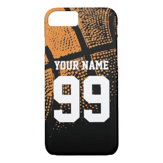 Custom sports basketball jersey number iPhone case