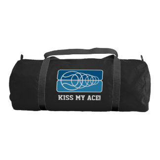 Custom sports duffle gym bag for tennis player
