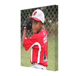 Custom Sports Photo Wrapped Canvas