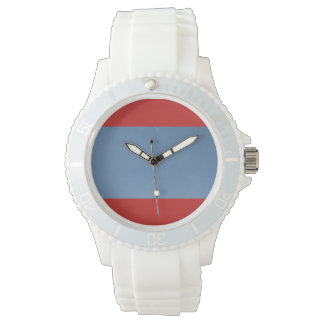 Custom Sporty White Silicon blue sky design Watch