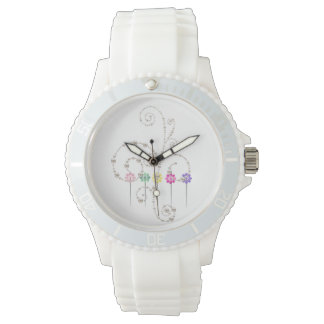 Custom Sporty White Silicon Watch