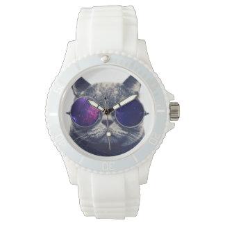 Custom Sporty White Silicon Wristwatch