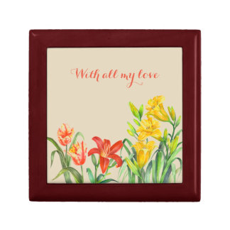 Custom Spring Flowers Floral Art Gift Box