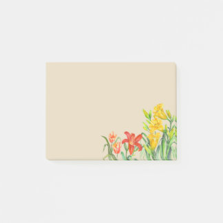 Custom Spring Flowers Floral Art Post-it Notes