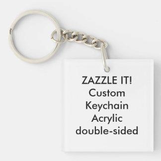 Custom Square Acrylic Keychain Key Ring Blank