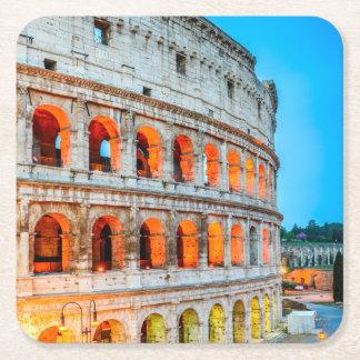Custom Square Coasters Colosseum Rome Italy