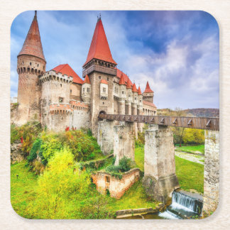 Custom Square Coasters Corvin castle