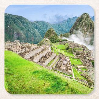 Custom Square Coasters Machu Picchu