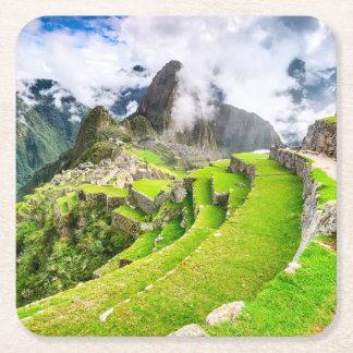 Custom Square Coasters Machu Picchu, Cusco - Peru