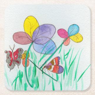 Custom Square Coasters w/flowers