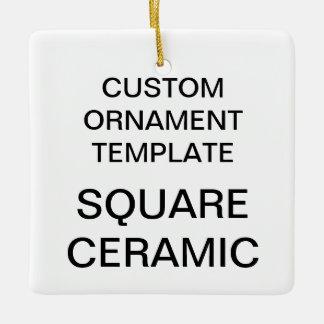 Custom Square Porcelain Christmas Tree Ornament