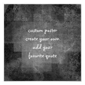 custom square poster add your quote abstract style