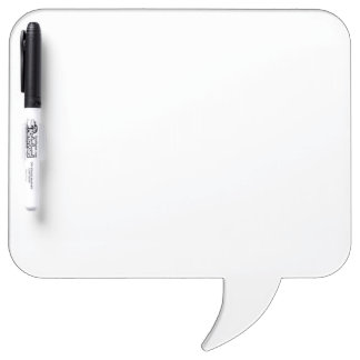 Custom Square Speech Bubble Dry Erase Board