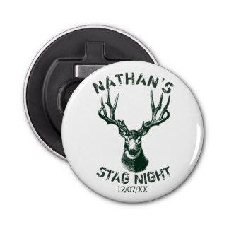 Custom Stag Night Antlers Keepsake Bottle Opener