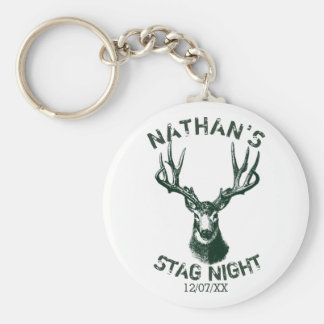 Custom Stag Night Antlers Keychain