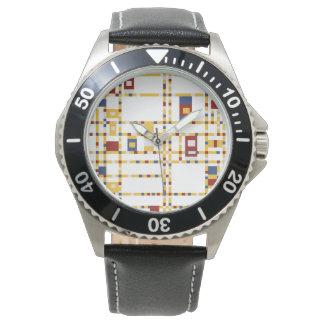 Custom Stainless Steel Black Leather Watch